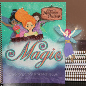 oquirrh mountain fairies mineral magic coloring and story book by author kelly parke