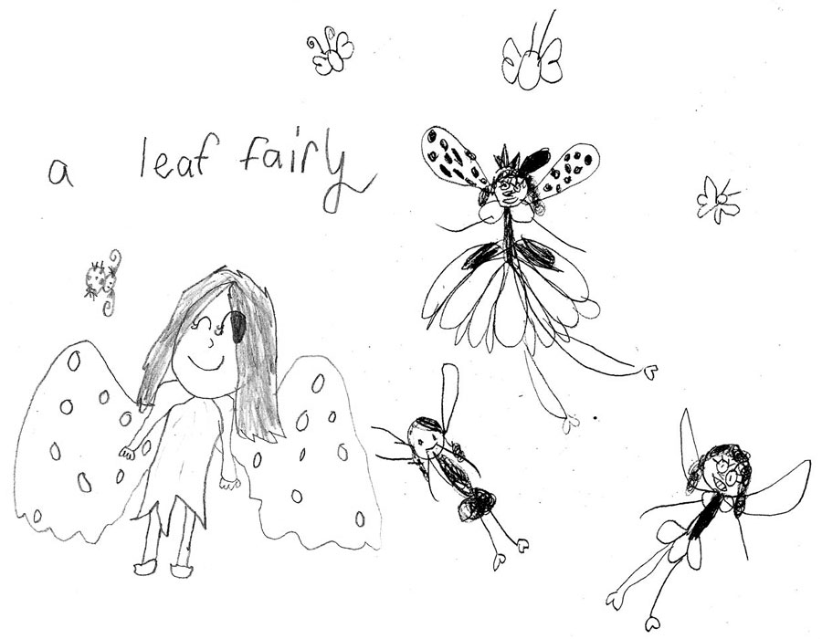 west elementary student fairy drawings