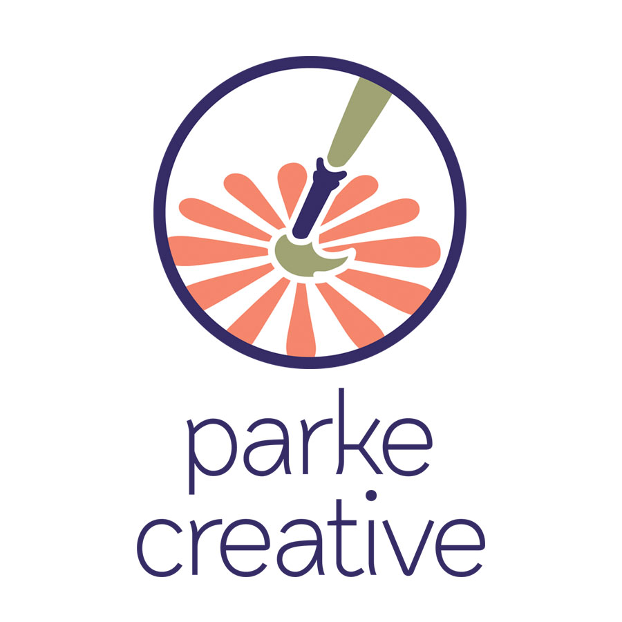 original logo icon and logo text for parke creative by kelly parke