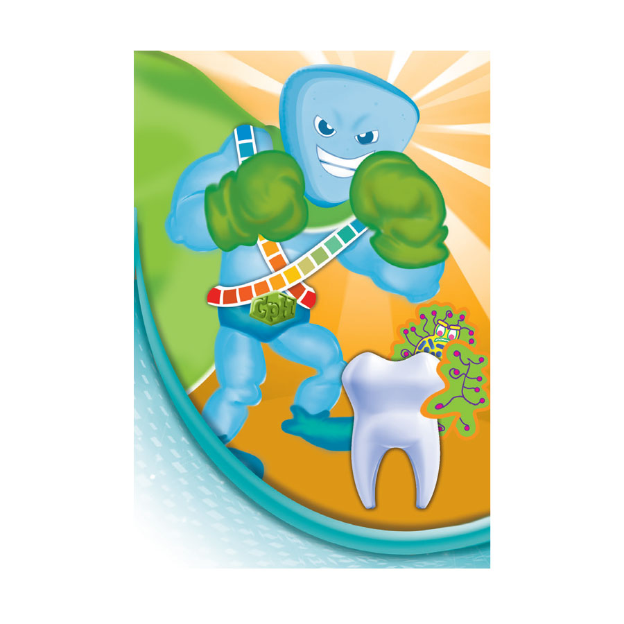 product mascot illustration for cavity phighter by kelly parke