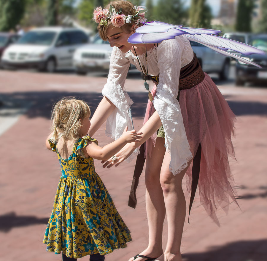 dancing fairies at the oquirrh mountain fairies mineral magic book launch